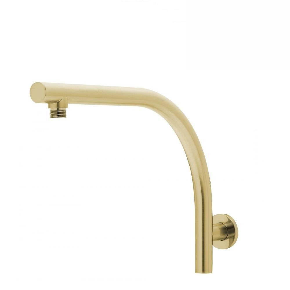 Phoenix Rush High Rise Shower Arm Brushed Gold (4129904427068)