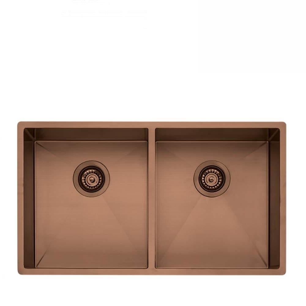 Oliveri Spectra Sink Double Bowl 780 x 445mm Topmount or Undermount Copper (4129889189948)