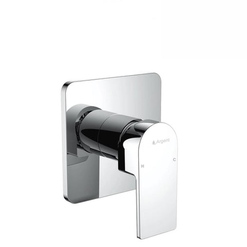 Argent Evoke Square Shower Mixer Chrome