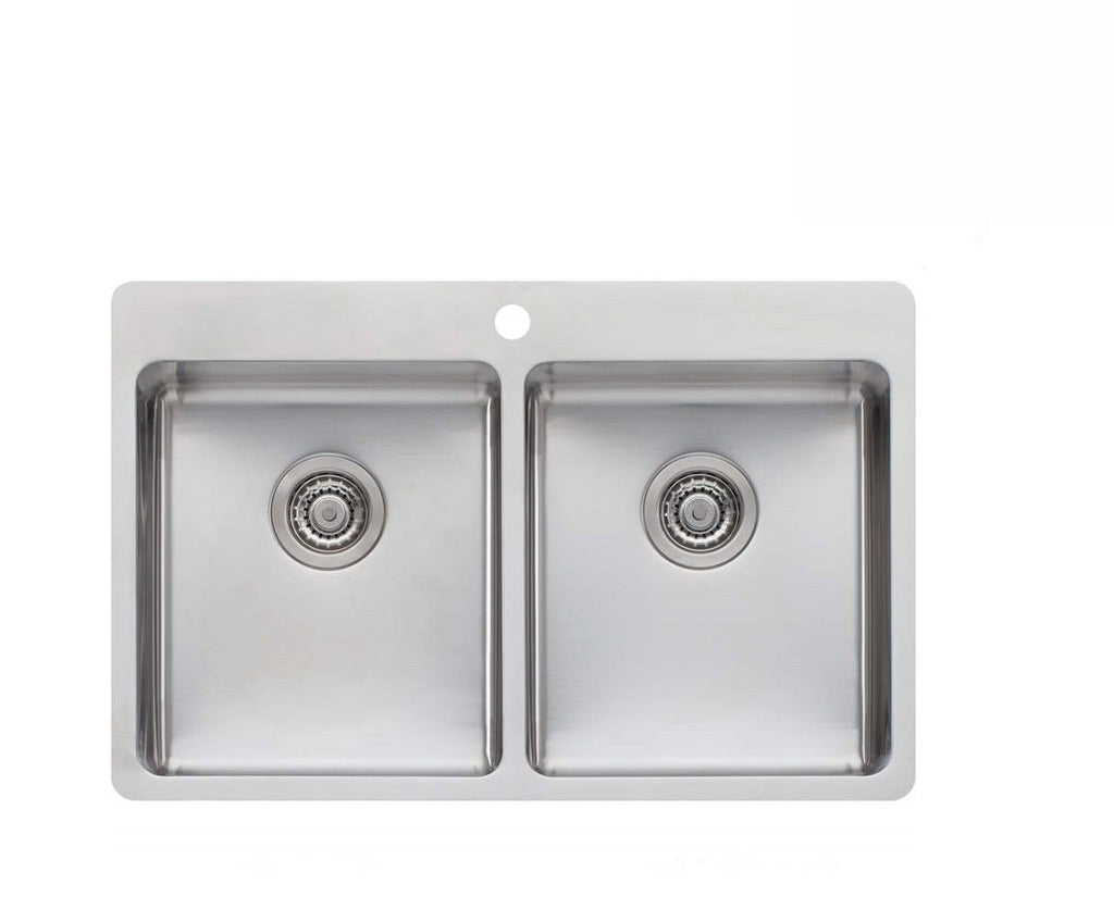 Oliveri Sonetto Double Bowl Inset Kitchen Sink (2530529476668)
