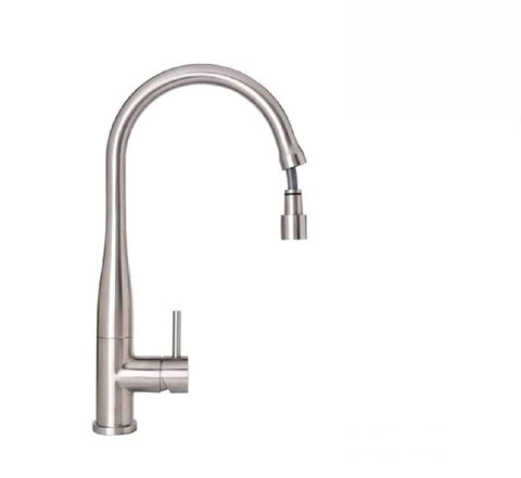 Linkware Elle Kitchen Mixer Gooseneck Stainless Steel Finish with Pull Out Spray (2530543108156)