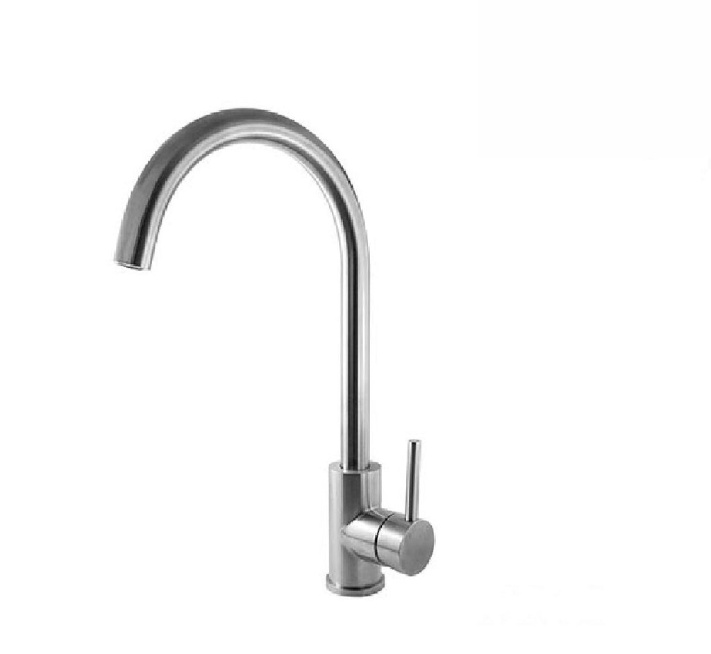 Linkware Elle Kitchen Mixer Gooseneck Stainless Steel Finish (2530543075388)