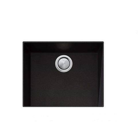 Oliveri Santorini Black Large Bowl Undermount Sink (2530529673276)