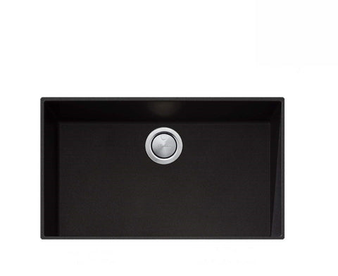 Oliveri Santorini Black Mega Bowl Undermount Sink (2530529640508)