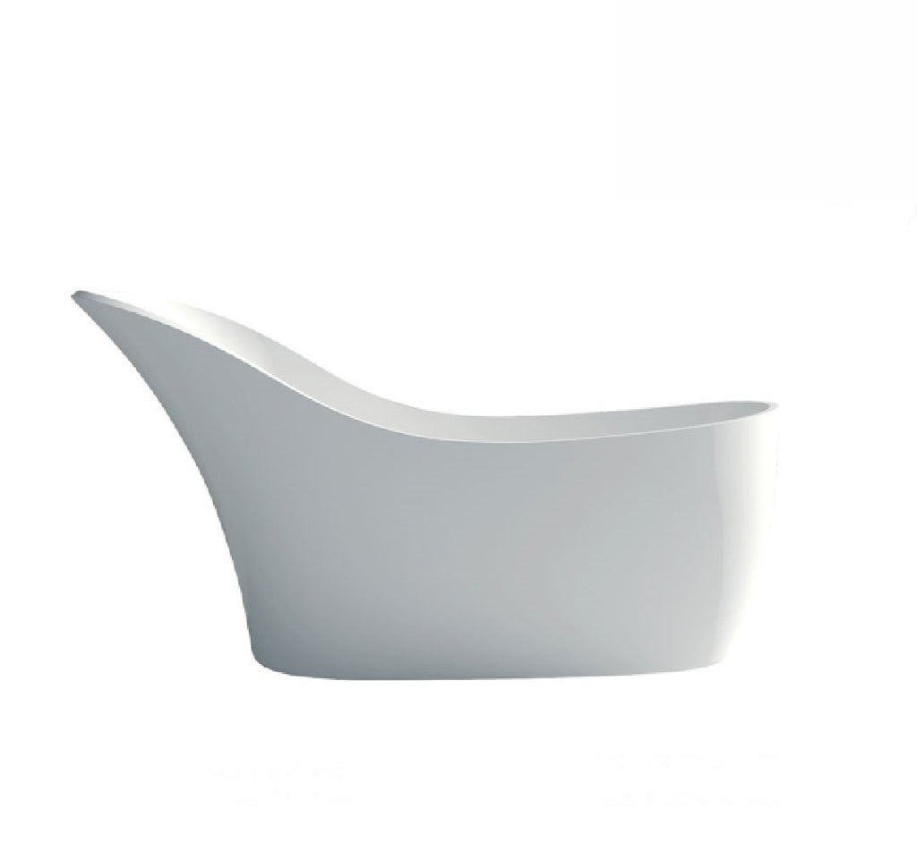 Fienza La Vida Cast Stone Solid Surface Bath 1690mm Matte White (2530539929660)