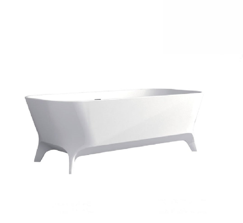 Fienza Hampton Cast Stone Solid Surface Bath 1600mm Matte White (2530539798588)
