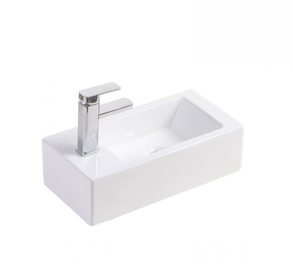 Fienza Wall Hung Ceramic Basin Linea- Left Hand 1th White (2530541502524)