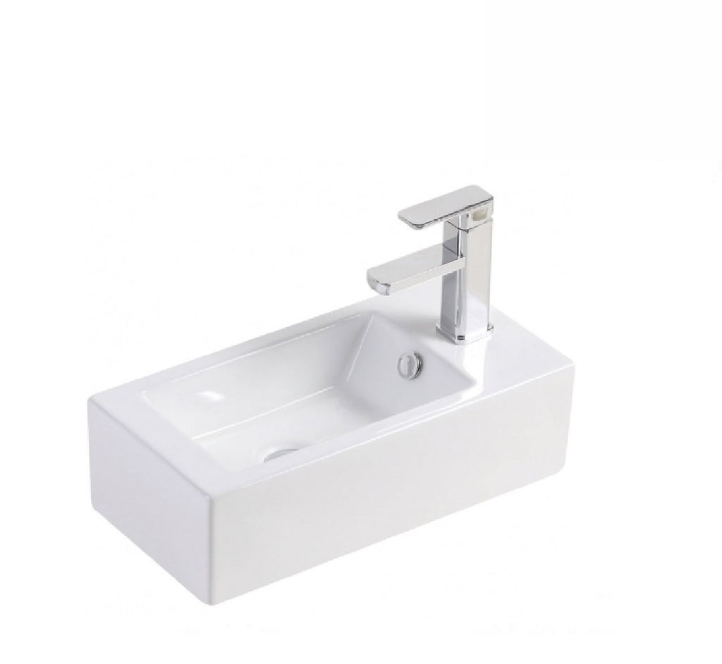 Fienza Wall Hung Ceramic Basin Linea- Right Hand 1th White (2530541535292)