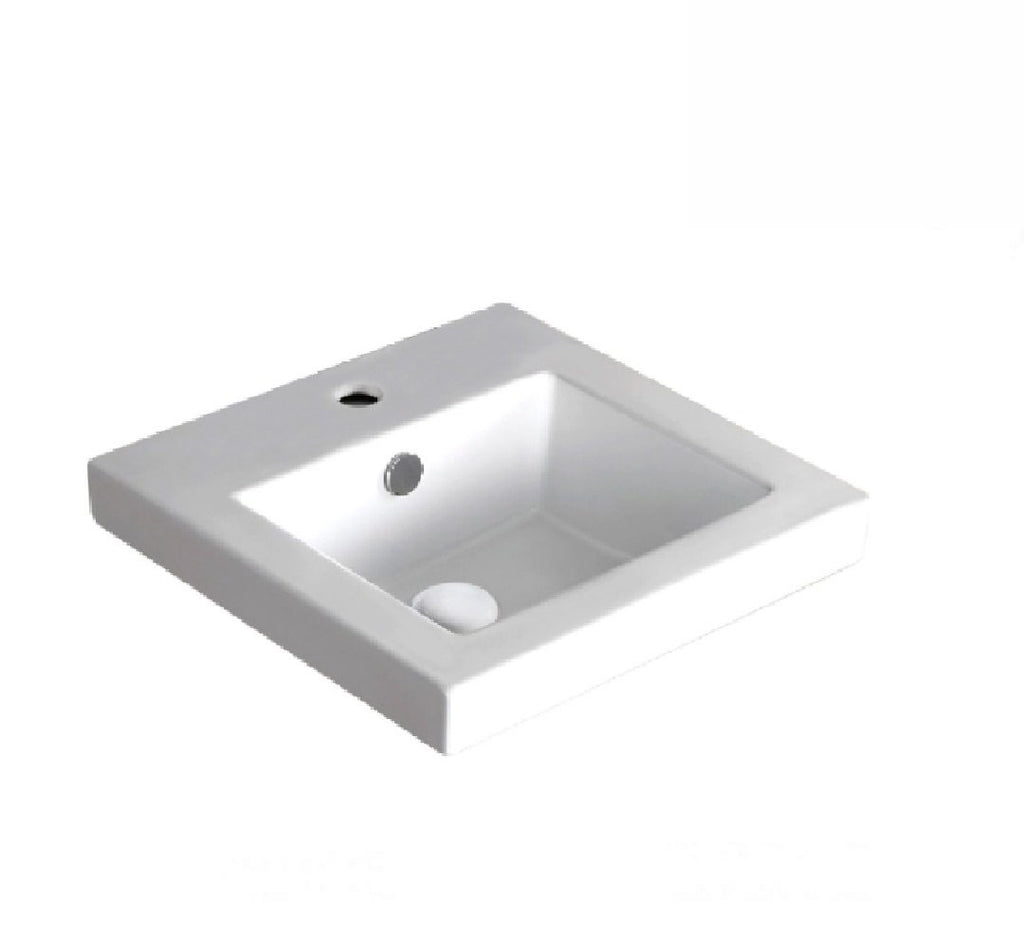 Fienza Semi Inset Ceramic Basin Alison 1th White