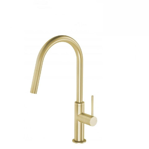 Phoenix Vivid Slimline Pull Out Sink Mixer Brushed Gold (4129906360380)