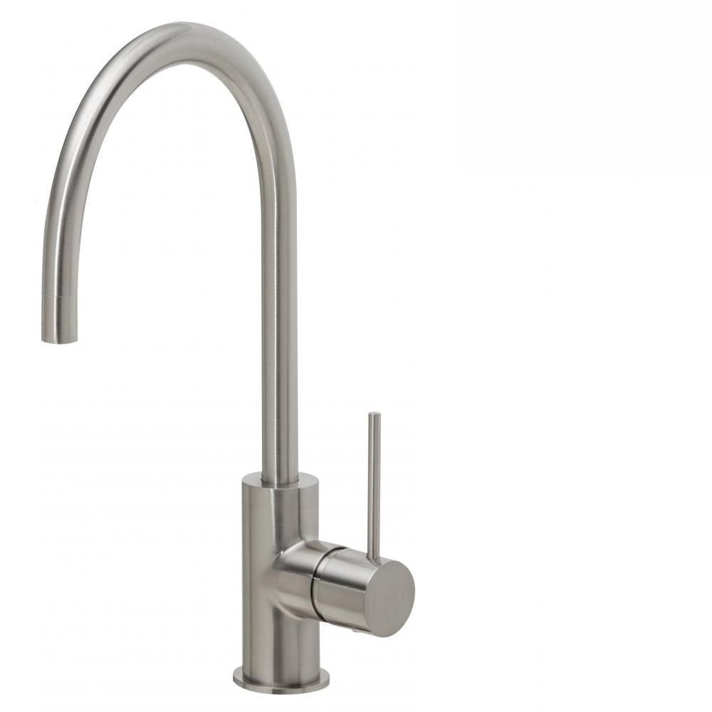 Phoenix Vivid Slimline Sink Mixer 220mm Gooseneck Brushed Nickel (4129906688060)