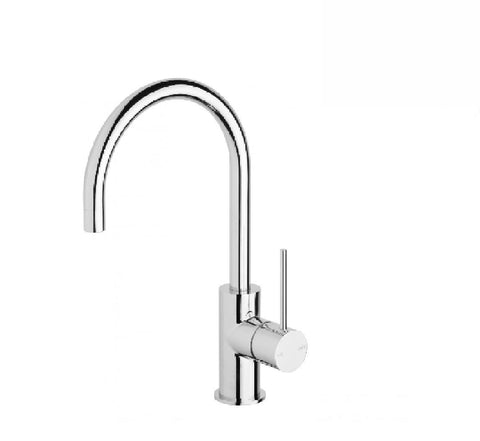 Phoenix Vivid Slimline Sink Mixer 160mm Gooseneck Chrome (2530531639356)