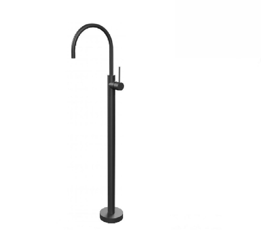 Phoenix Vivid Slimline Floor mounted Bath mixer Matte Black