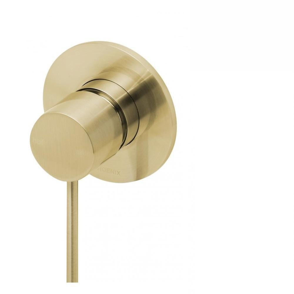 Phoenix Vivid Slimline Shower / Wall Mixer Brushed Gold (4129908260924)