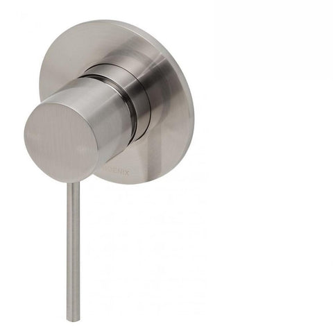 Phoenix Vivid Slimline Shower / Wall Mixer Brushed Nickel (4129908162620)