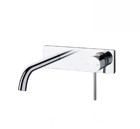 Phoenix Vivid Slimline Wall Bath Mixer Set 180mm Curved Chrome (2530531278908)