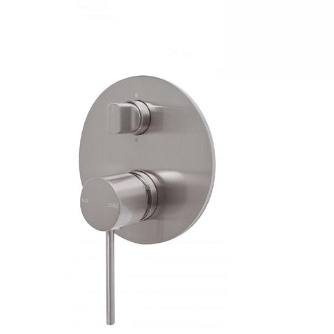 Phoenix Vivid Slimline Shower/Bath Mixer Diverter Brushed Nickel (4129909014588)
