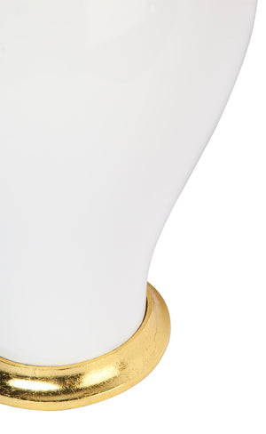 Carolina Table  Lamp - White