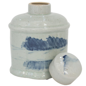 4x Cumulus Ceramic Oval Ginger Jar