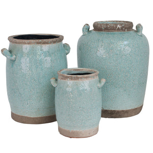 Thiva Ceramic Urn Vase, Tall