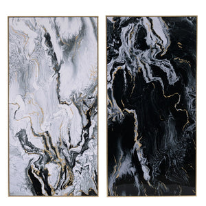 Marbled 2 Piece Wall Art Print Set, 185cm
