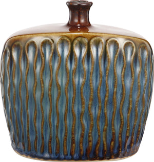 Tuscan Textured Wide Ceramic Vase