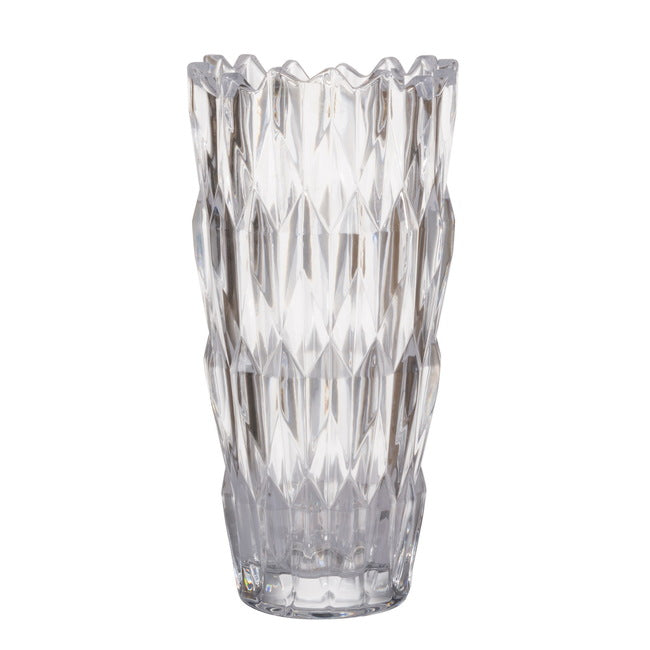 Amanda Crystal Glass Vase, Tall