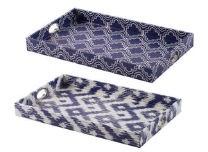 Ikat Trays, Set of Two