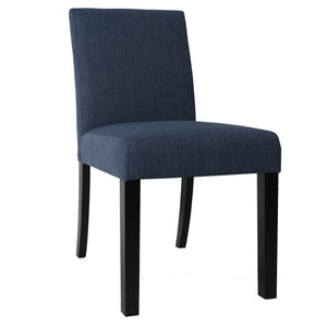 2x Tom Fabric Dining Chairs, Denim