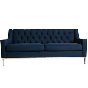 Montgomery Fabric 3 Seater Sofa, Navy