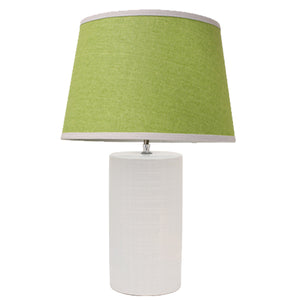 Fletcher Ceramic Table Lamp, Green