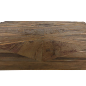 Aubagne Reclaimed Timber Parquet Dining Table, 200cm