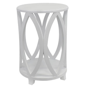 Bonnie Round Side Table, White
