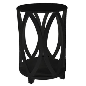 Bonnie Round Side Table, Black