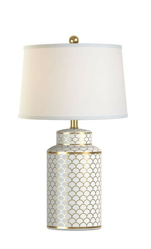 Geo Gold Ceramic Table Lamp