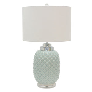 Island Ceramic Table Lamp, Turquoise