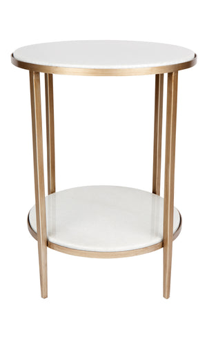 Chloe Side Table - Gold