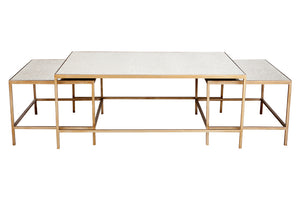 Cocktail Coffee Table - Antique Gold 3pc