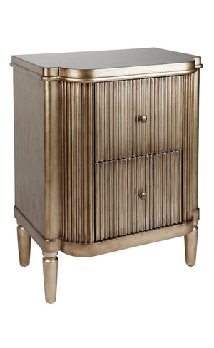 Arielle Bedside Table - Antique Gold