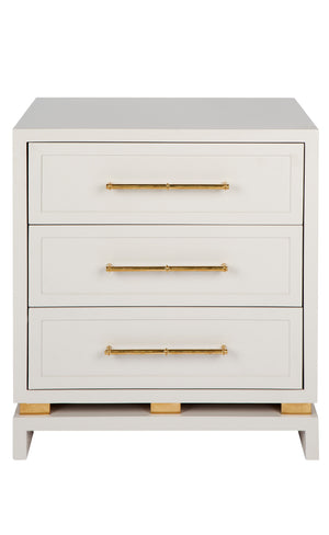 Pearl Bedside Table - Grey