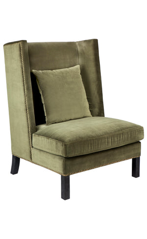 Lourdes Arm Chair - Moss