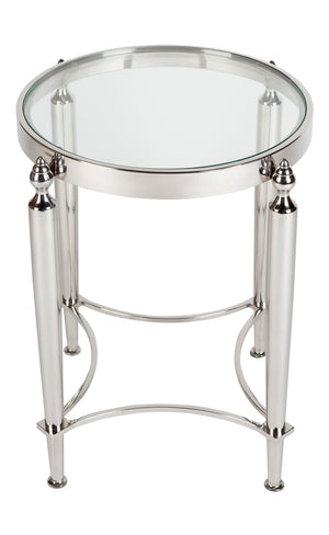 Jacques Side Table - Nickel