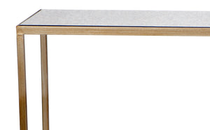 Cocktail Console Table - Antique Gold
