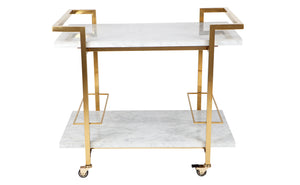 Franklin Drinks Trolley - White