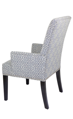 Bentley Arm Chair - Diamond Navy