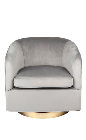 Belvedere Swivel Arm Chair - Charcoal