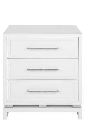 Pearl Bedside Table - White
