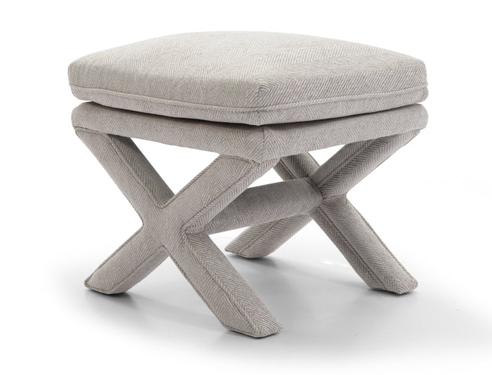 Candace Stool - Chevron Grey