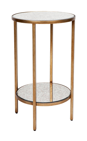 Cocktail Side Table - Petite Antique Gold