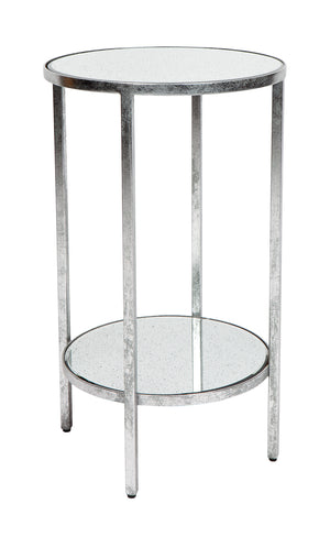 Cocktail Side Table - Petite Silver Leaf